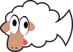 White Stupid & Cute Cartoon Fish Sheep