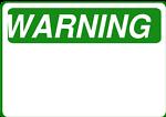 Warning - Blank (Green)