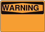 Warning - Blank (orange)