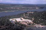 Aerial photo of the Anasazi Heritage Center in Dolores, Colorado.