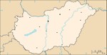 Blank map of Hungary.
