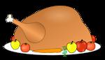 turkey platter 01 with fruit and vegitables 01