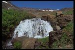 High Steens waterfall on Wild Horse Creek.  (WSA 2-85F)