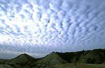 Unusual cloud formations above the Terry Badlands