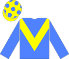 The en:racing silks of Saeed Suhail, as worn by the jockey of en:Kris Kin to victory in the en:2003 Epsom Derby.