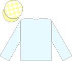 The en:racing silks of Ballymacoll Stud, as worn by the jockey of en:North Light to victory in the en:2004 Epsom Derby.