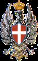 Italiano:  emblema distintivo della Régia Aeronautica Italiana dal 29 aprile 1913 al 28 giugno 1915. distinctive coat of arms of the Royal Italian Air Force (Régia Aeronautica Italiana) from 29 April 1913 until 28 June 1915.