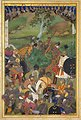 'Abid. The Death of Khan Jahan Lodi. Page from the Windsor Padshahnama, fol. 94v, Date ca. 1633, The Royal Library, Windsor Castle