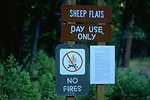 Entry sign at Sheep Flats day use area