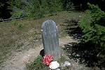 Grave marker at Sand Park cemetery along Garnet Back Country Byway