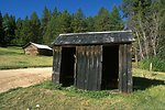 Garnet Ghost Town--outhouse that serviced the Wells Hotel