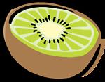 half a kiwi