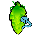 Hop Cone Color Illustration by Fatty Matty Brewing