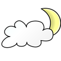 Weather Symbols: Cloudy Night