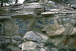 Graffiti found below the rimrocks in the Acton Recreation Area