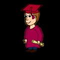 Comic characters: Graduated
