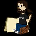 Comic characters: Sitting