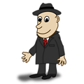 Comic characters: Businessman