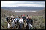 Pueblo Mountain WSA, a group photo of Sierra Club volunteers placing wooden water bars on a closed route.  (WSA 2-81)