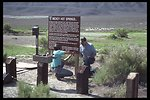 East Alvord WSA, installing information signs at Mickey Hot Springs.  (WSA 2-73A)