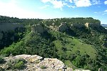 Sandstone cliffs east of Billings in the Four Dances Natural Area