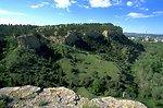 Sandstone cliffs east of Billing in the Four Dances Natural Area