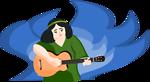 bard woman playing gitar