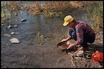 A visitor to Arizona public lands relives a time honored experience, gold panning.