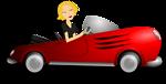 Blonde Female Driver