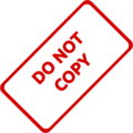 Do Not Copy Business Stamp 1