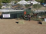 The new portable corrals at the Wild horse and Burro adoption in Camp Verde.