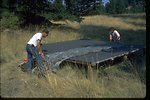 Wildlife biologists construct water catchment for bighorn sheep on Vulcan Mountain in Ferry County, Washington.