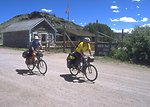 Biking the Continental Divide Trail at South Pass City, Lander Field Office.