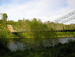 The Union Bridge over the River Tweed between England and Scotland. Viewed from the Scottish bank.