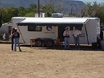 The BLM portable headquarters for running the wild horse and burro adotion at Camp Verde.
