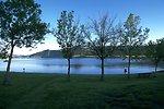 Holter Lake at sunset