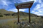 Red Mountain Campgrounds Entrance Sign