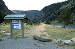 Kiosk at the Trailhead in Bear Trap Canyon