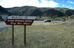 Sign at Warm Springs Creek Day Use Area