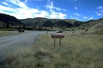 The Parking Lot and Outhouse at Warm Springs Creek