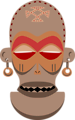 African Mask. Chokwe, Angola, Zaire