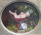 Cupid in a Wine Glass, oil painting by Abraham Woodside, 1840s, Pennsylvania Academy of the Fine Arts