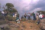 Secretary Babbitt/Governor Kitzhaber delegation addressing designation of Steens Mountain at Big Indian overlook.