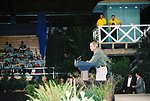 President Bush addresses an audience of more than 5,000 at the Jackson County Fairgrounds where he thanked firefighters and talked about his Healthy Forest Initiative.  August 22, 2002  Photo:  John Craig