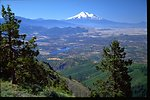 Scenic view of Mount Shasta and Irongate Reservoir.