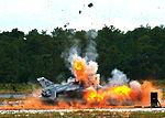 Destructive F-16 test