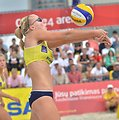 Lithuanian beach volleyball player Ieva Dumbauskaitė