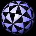 KaleidoTile, Topology and Geometry Software, Jeff Weeks  Spherical domains for tetrahedral symmetry