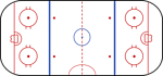 Layout of a hockey rink.