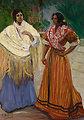 Two Gypsies. Oil on canvas, 180 x 129 cm, Inv. CTB.1996.51    Museo Carmen Thyssen         Native name Museo Carmen Thyssen   Location Málaga, Spain    Coordinates 36°43′17″N, 4°25′22″W      Established 2011   Website www.carm